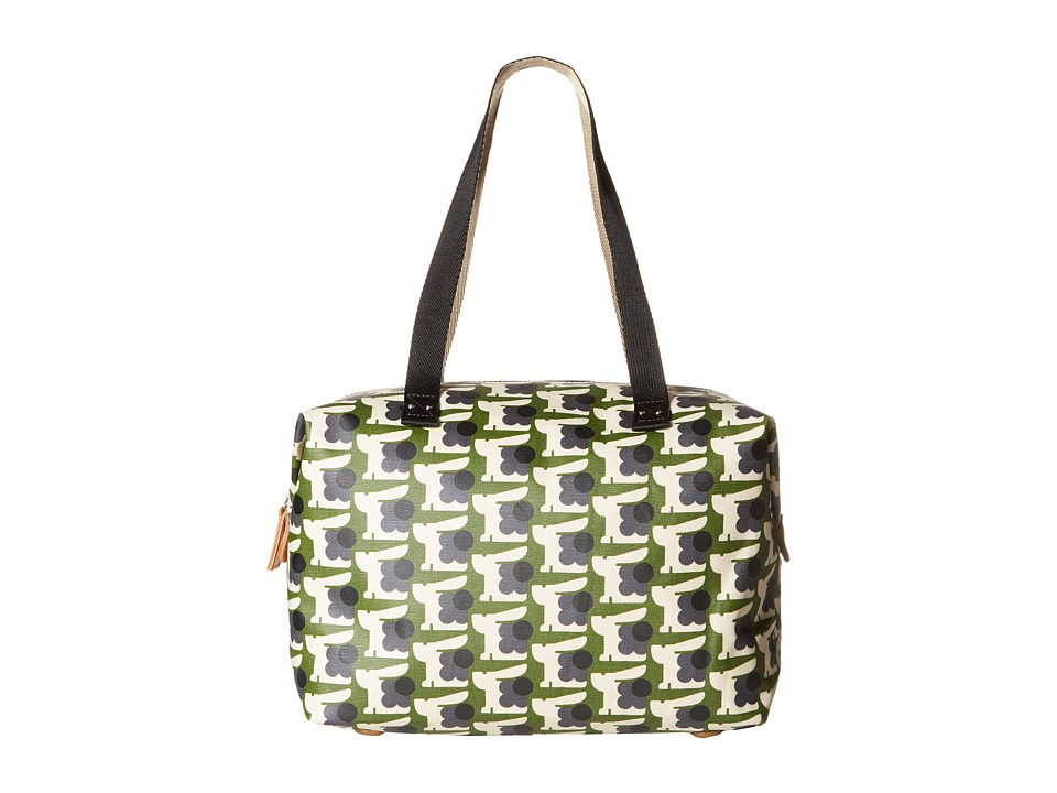 Orla Kiely - Matt Laminated Baby Bunny Print Zip Shopper (Grass) Handbags