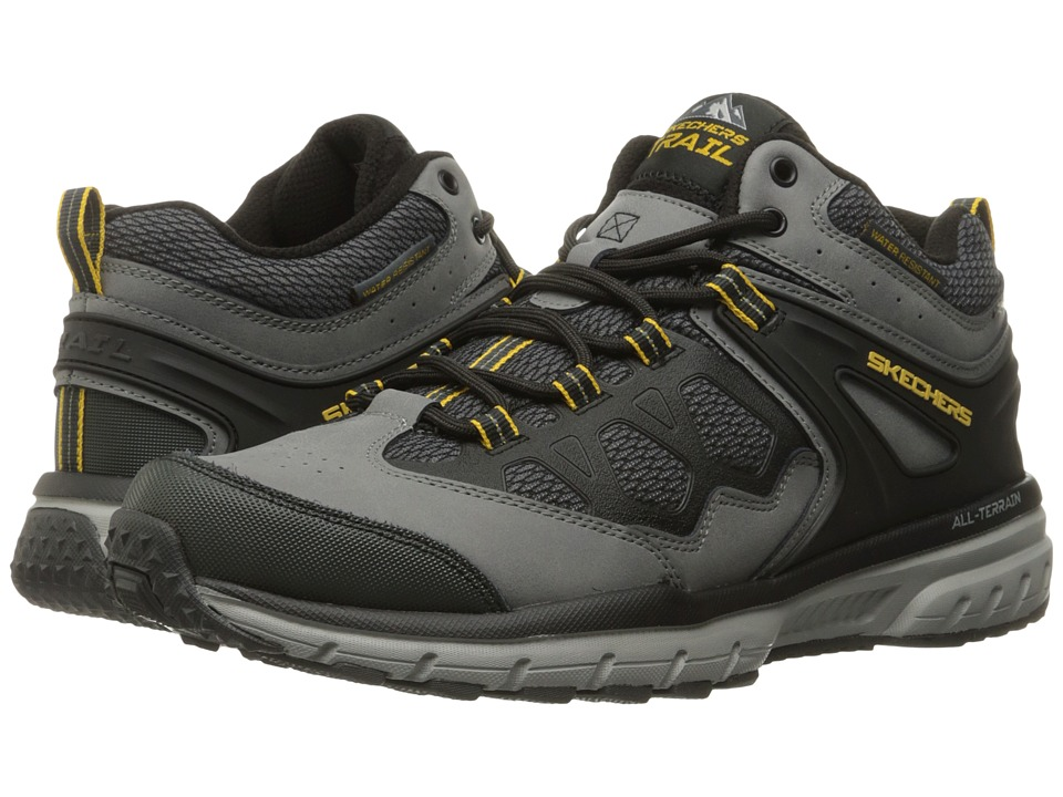 SKECHERS - Geo Trek Sequencer (Charcoal/Black) Men's Lace up casual Shoes