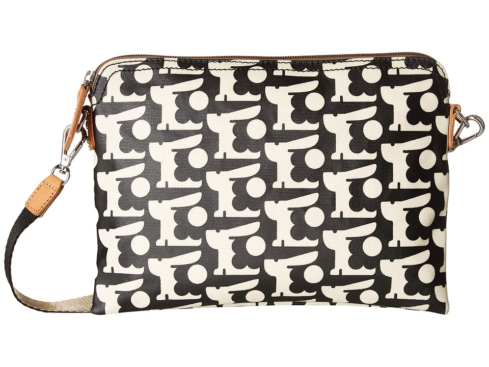 Orla Kiely - Matt Laminated Baby Bunny Print Travel Pouch (Black) Handbags