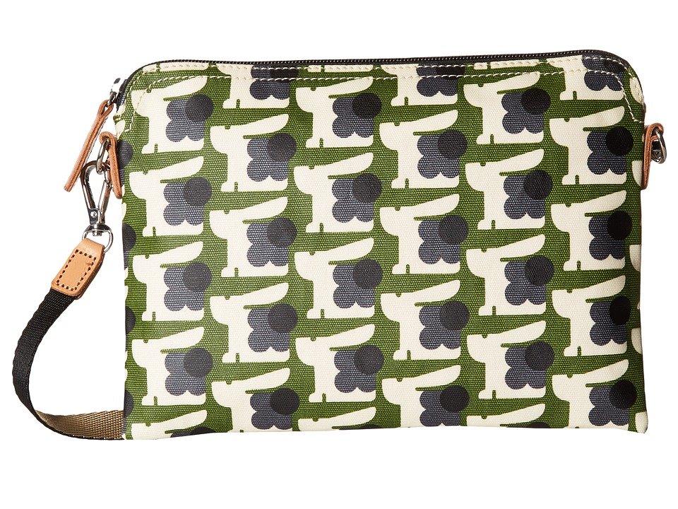 Orla Kiely - Matt Laminated Baby Bunny Print Travel Pouch (Grass) Handbags