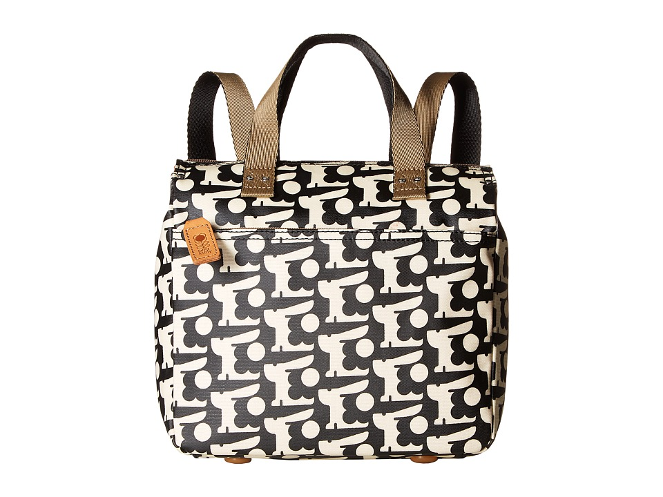Orla Kiely - Matt Laminated Baby Bunny Print Small Backpack (Black) Backpack Bags