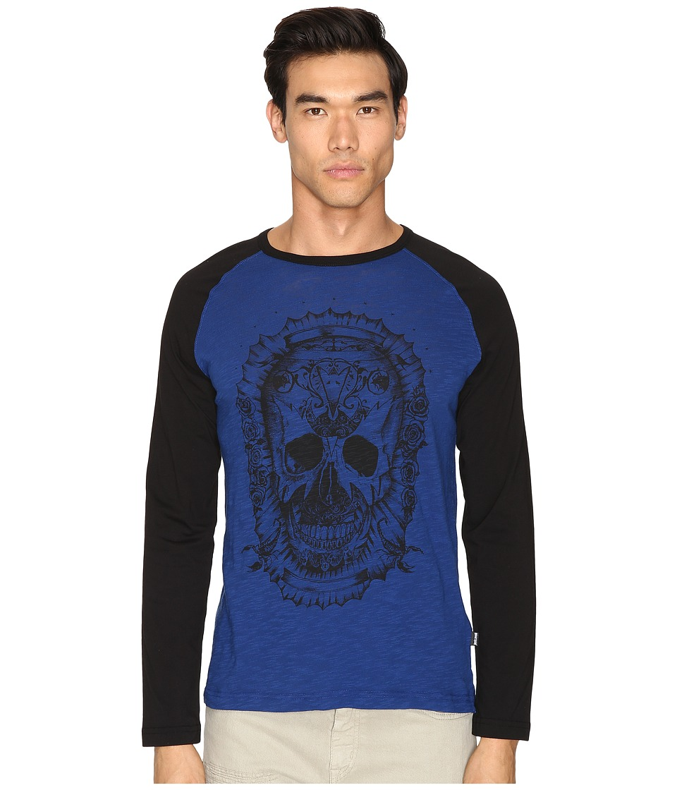 Just Cavalli - Skull Baseball T-Shirt (True Blue) Men's T Shirt