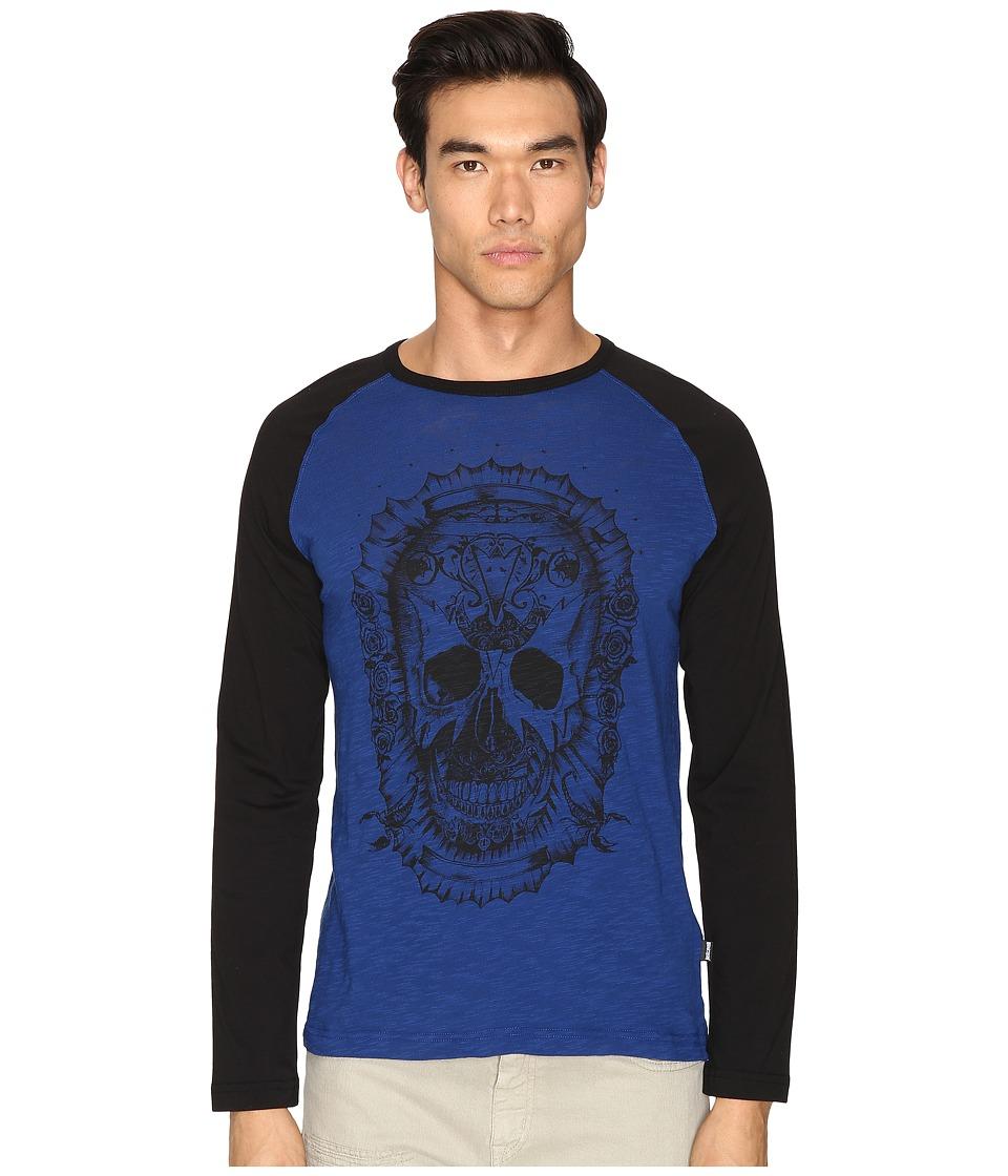 Just Cavalli Skull Baseball T-Shirt (True Blue) Men