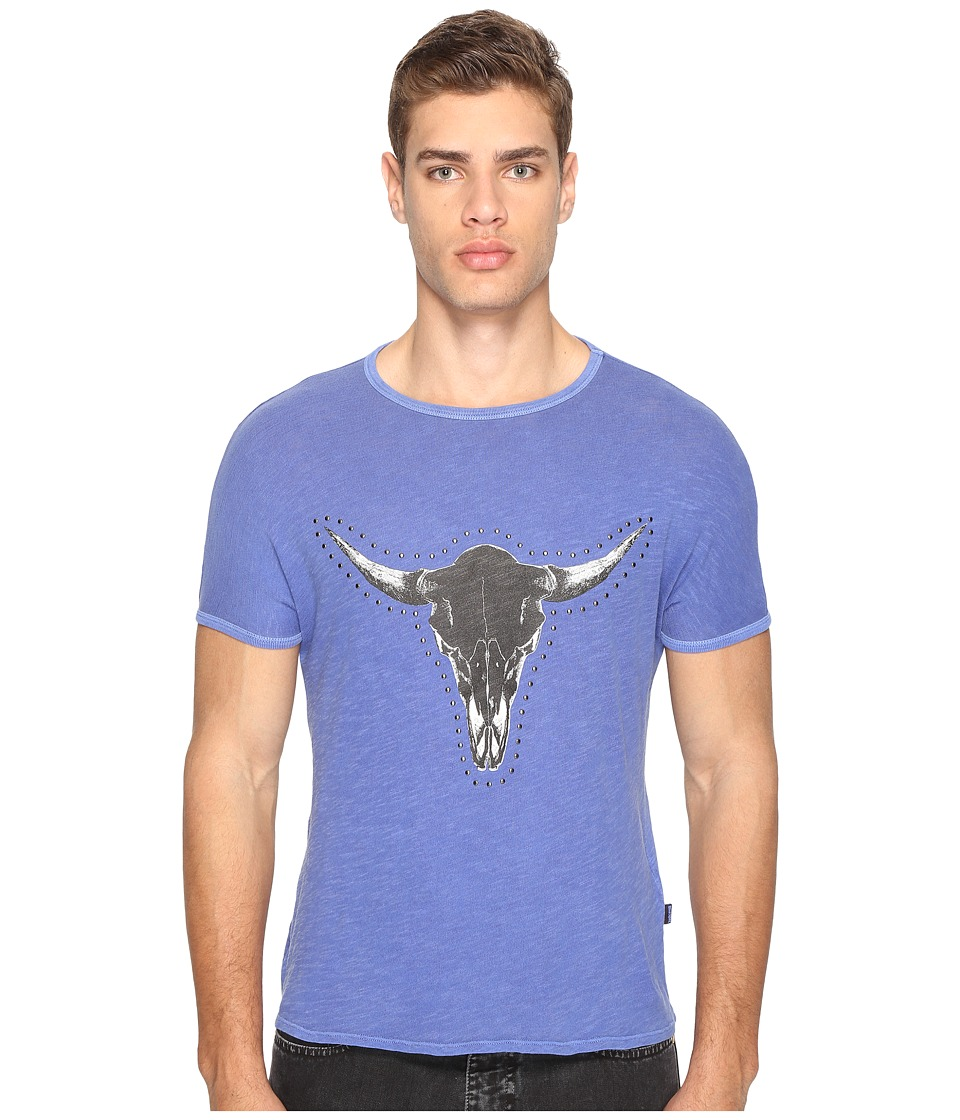 Just Cavalli - Horn T-Shirt (True Blue) Men's T Shirt