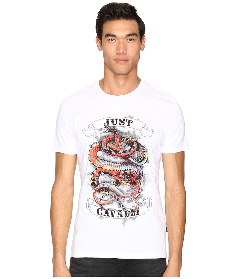 Just Cavalli - Tattoo Snake T-Shirt (White) Men's T Shirt