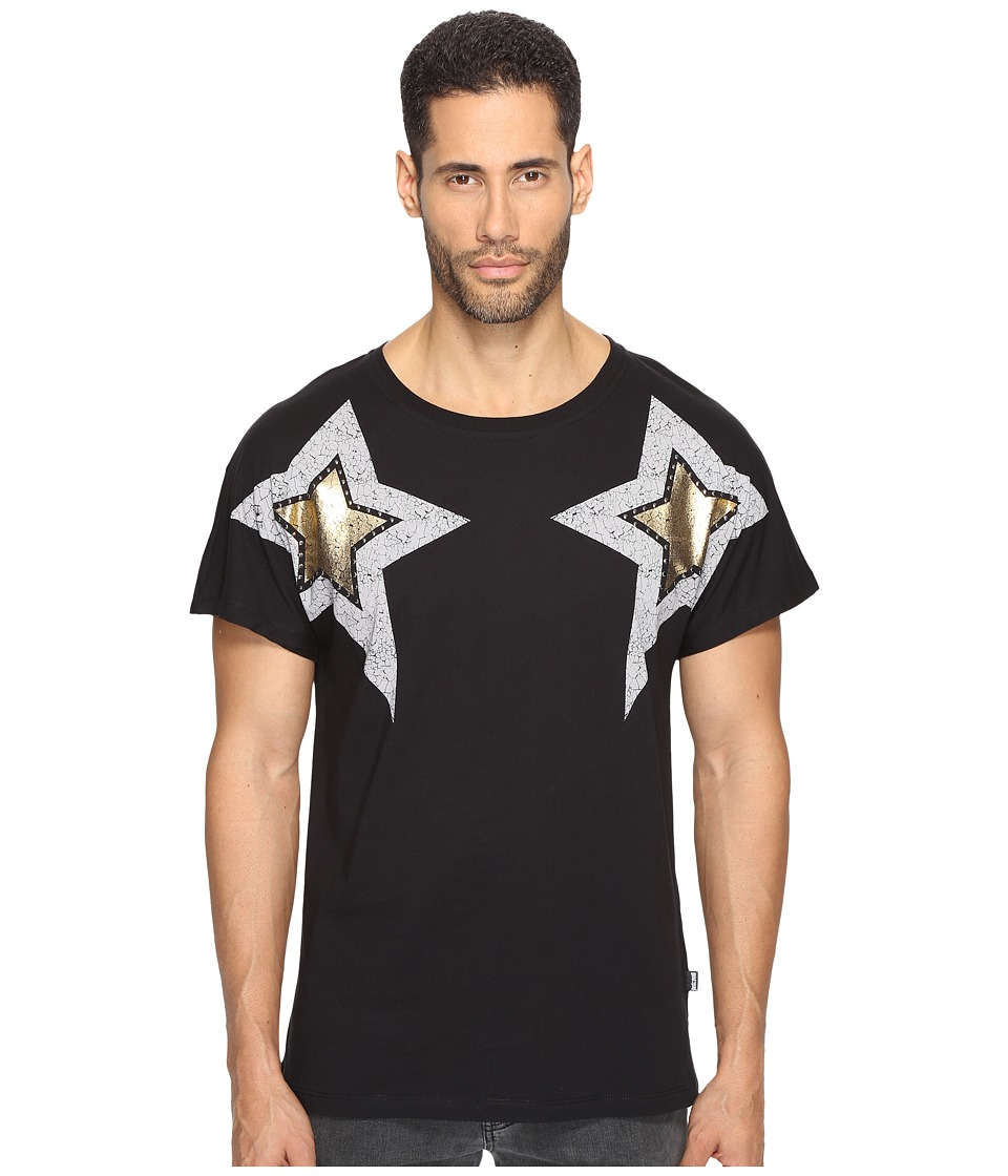 Just Cavalli - Start Printed T-Shirt (Black) Men's T Shirt