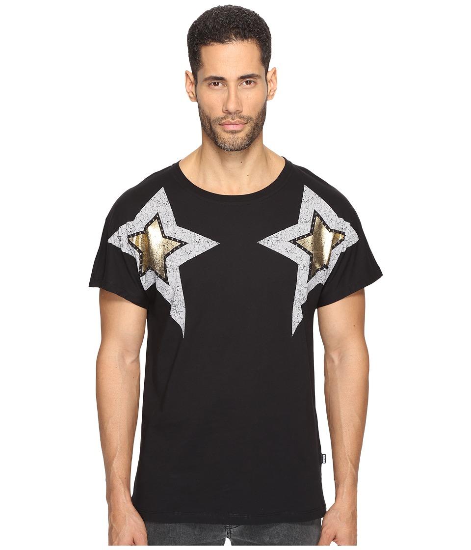 Just Cavalli Start Printed T-Shirt (Black) Men