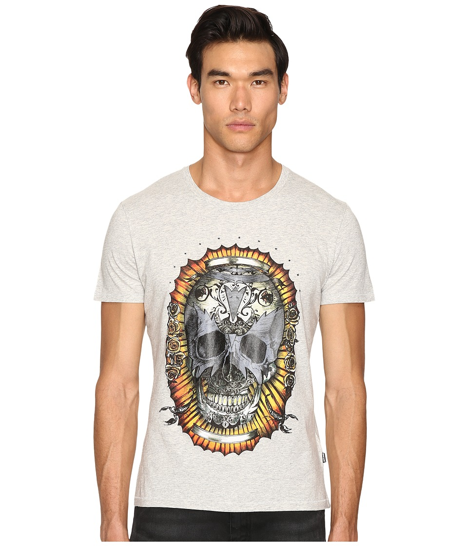 Just Cavalli - Wreath Skull T-Shirt (Grey Melange) Men's T Shirt