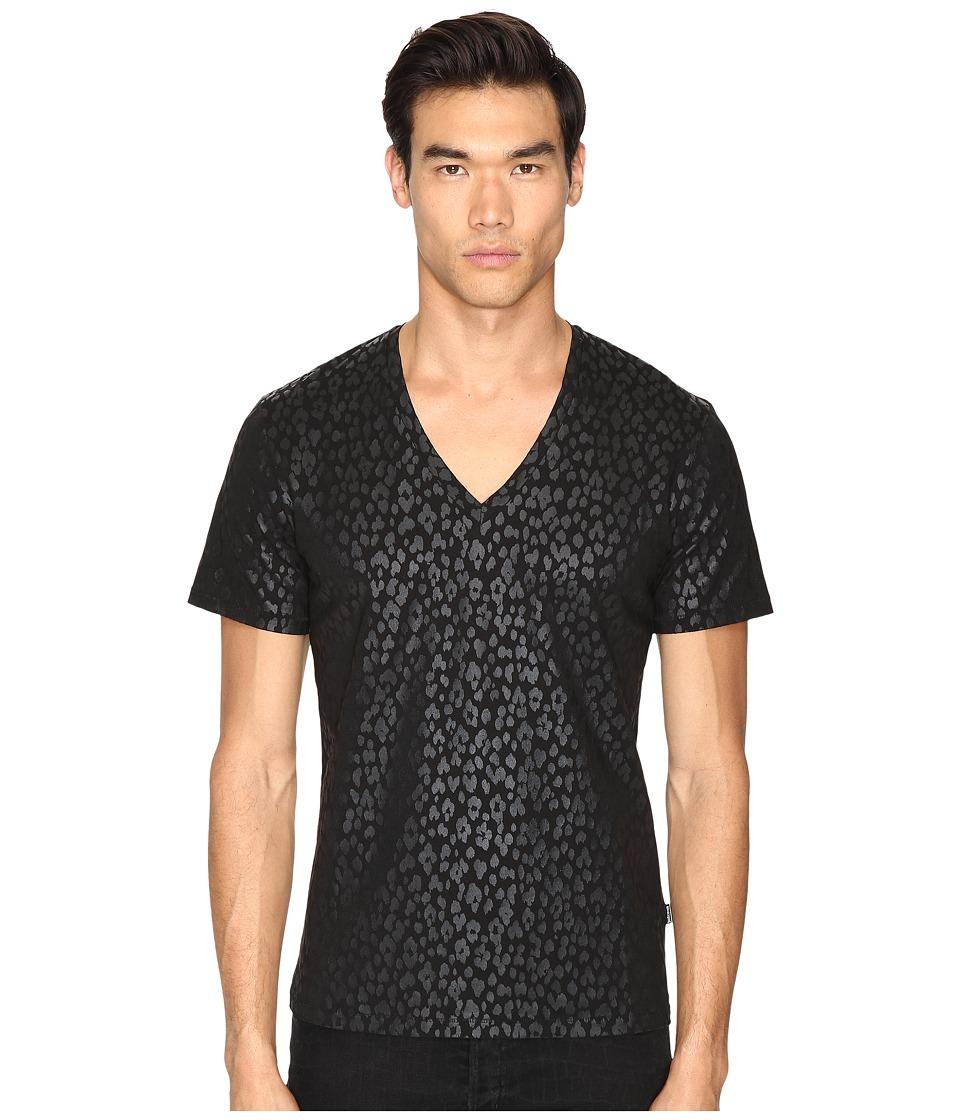Just Cavalli - Leopard T-Shirt (Black) Men's T Shirt