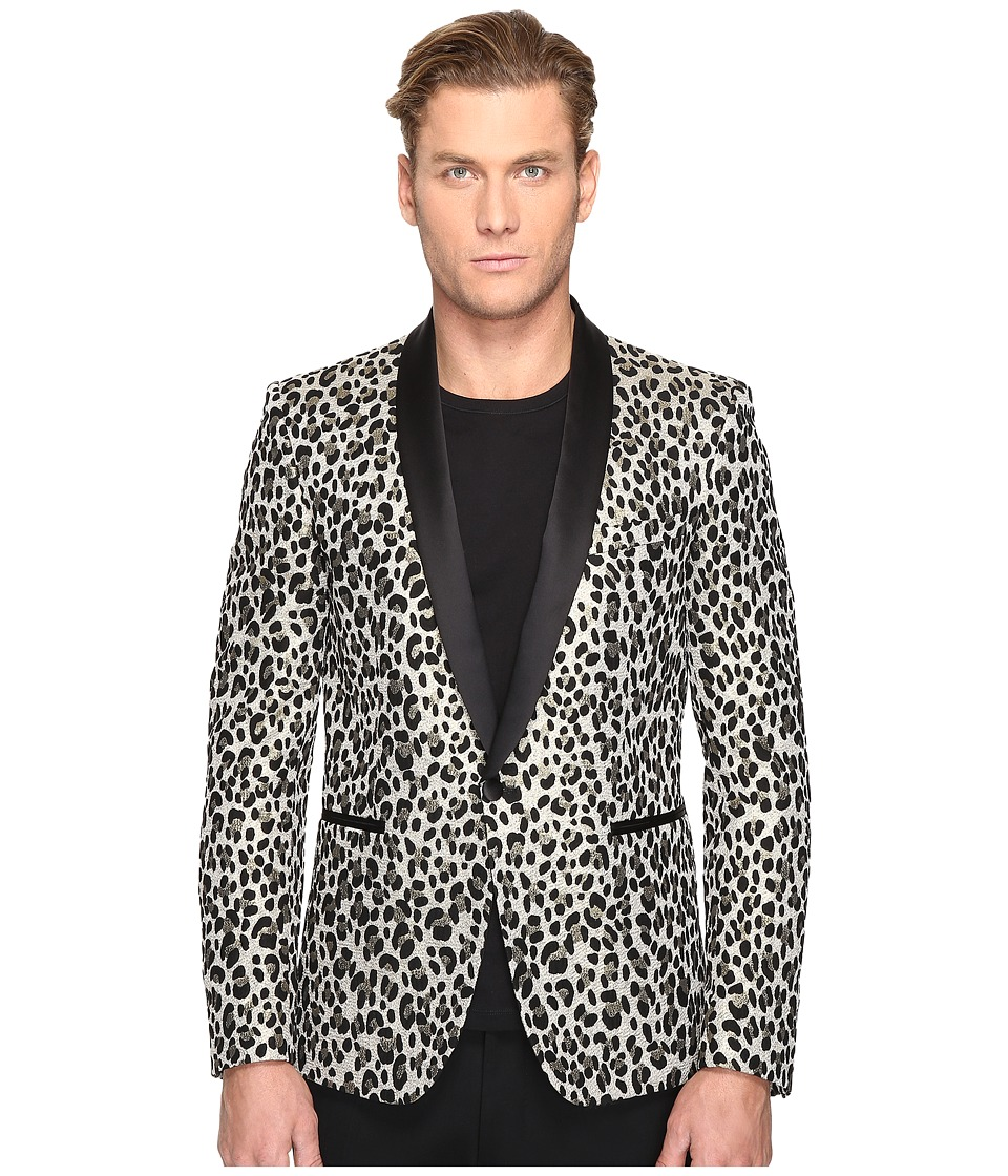 Just Cavalli - Leopard Blazer (Black) Men's Jacket