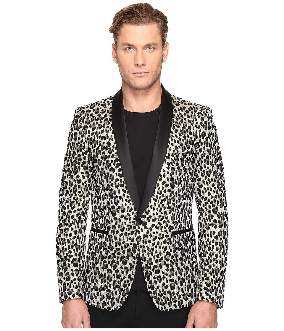 Just Cavalli - Leopard Blazer (Black) Men's Jacket