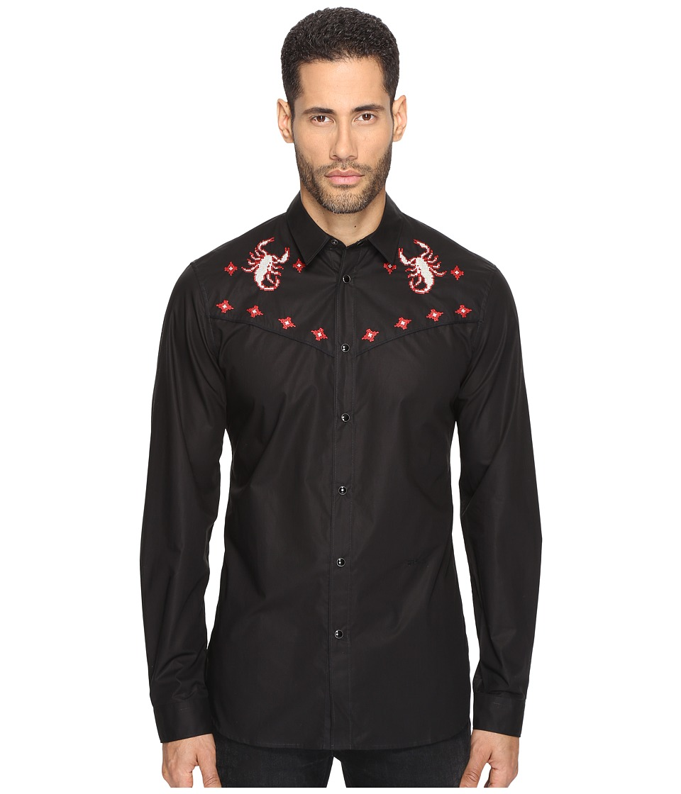 Just Cavalli - Western Shirt (Black) Men's Clothing