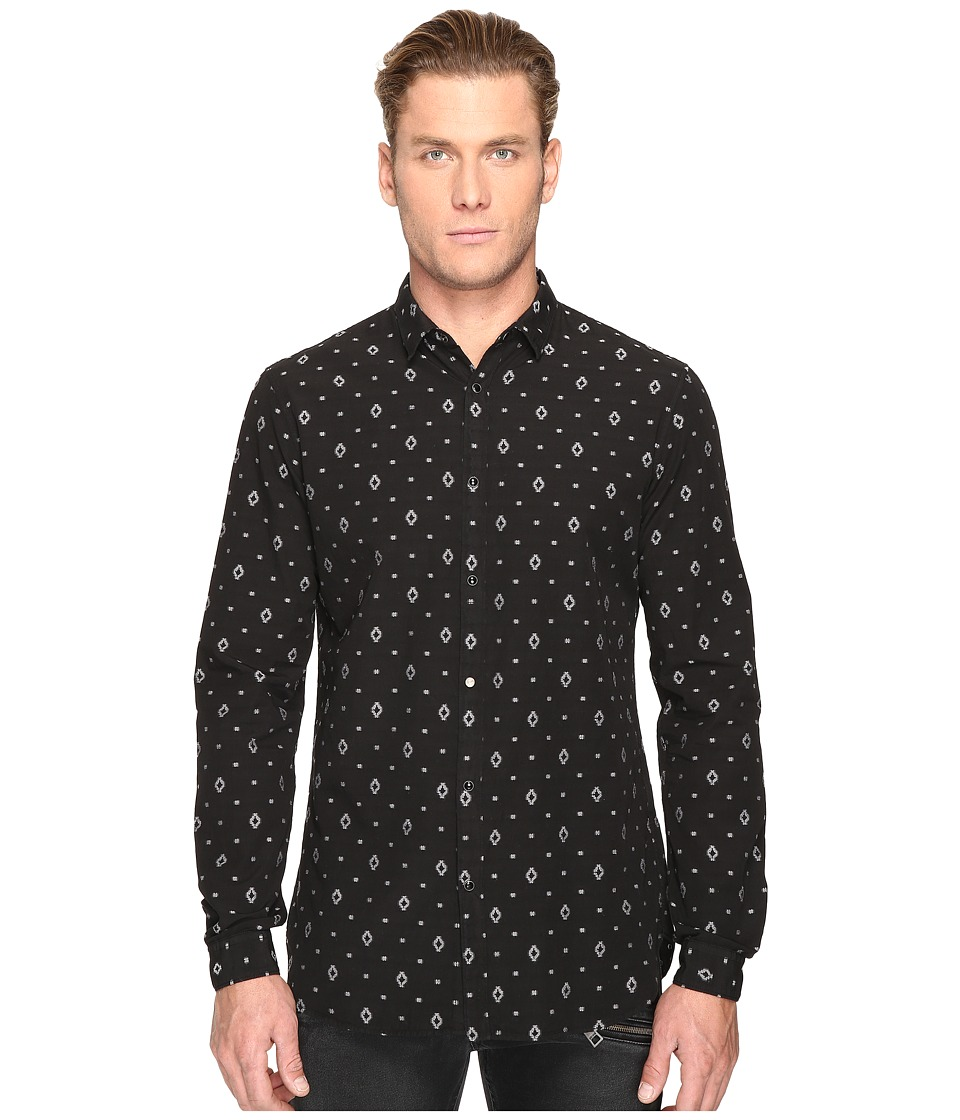 Just Cavalli - Solid Shirt (Black) Men's Clothing