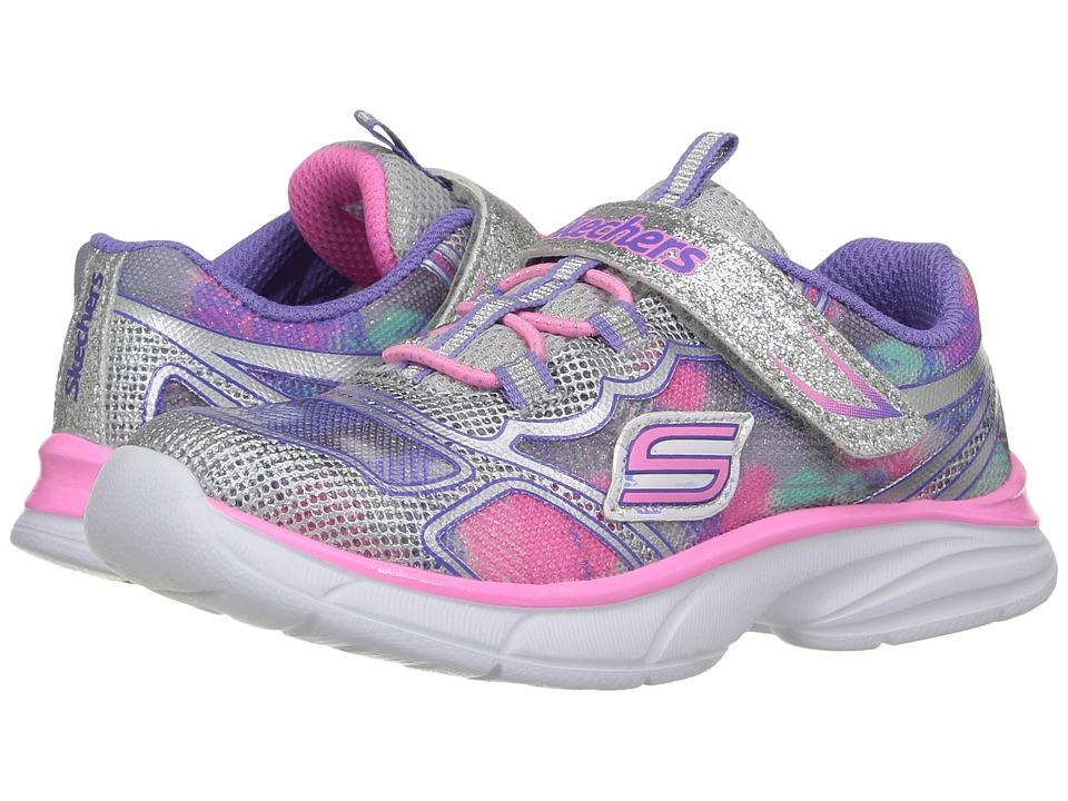 SKECHERS KIDS - Spirit Sprintz (Toddler) (Silver/Multi) Boy's Shoes