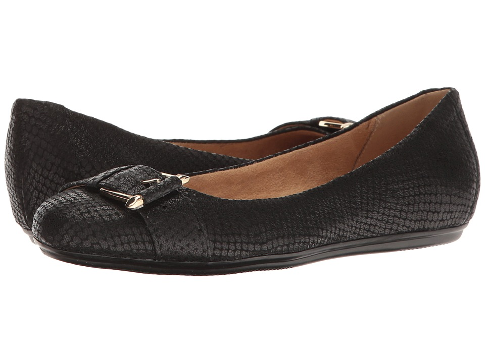 Naturalizer Bayberry (Black Leather) Women's Flat Shoes