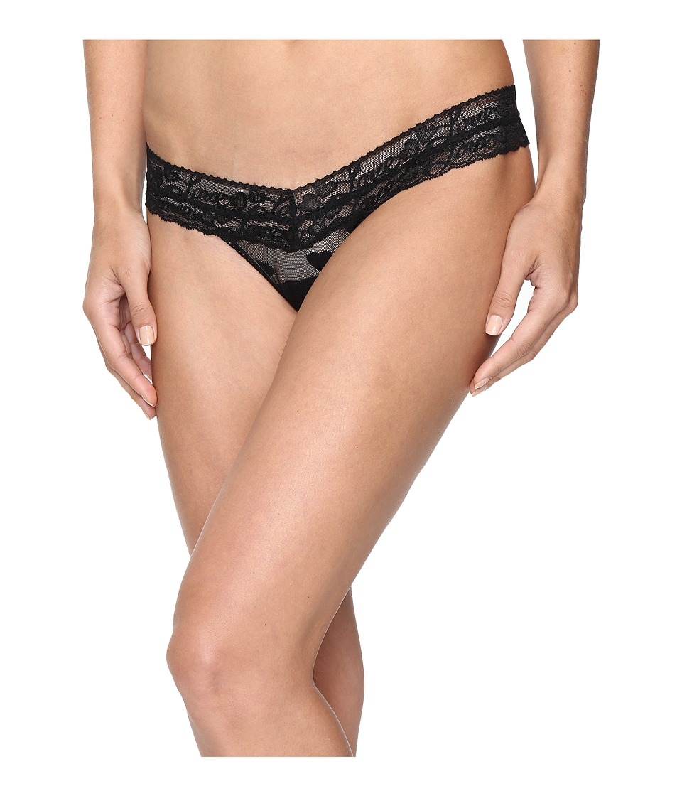 Hanky Panky - Sweetheart Mesh Low Rise Thong (Black) Women's Underwear