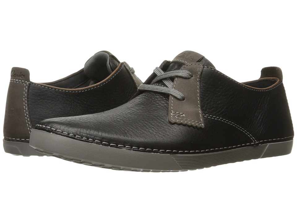 Clarks - Neelix Vibe (Black Leather) Men's Lace up casual Shoes
