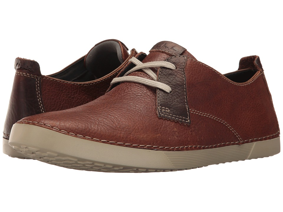 Clarks - Neelix Vibe (Brown Leather) Men's Lace up casual Shoes