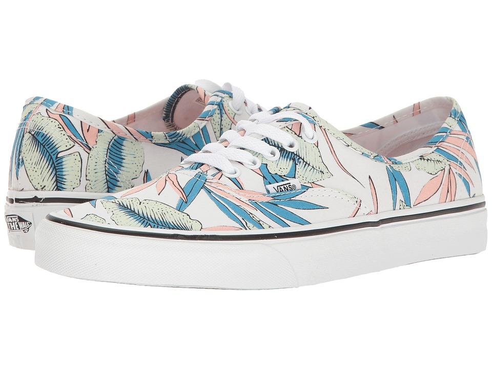 Vans - Authentictm ((Tropical Leaves) True White) Skate Shoes