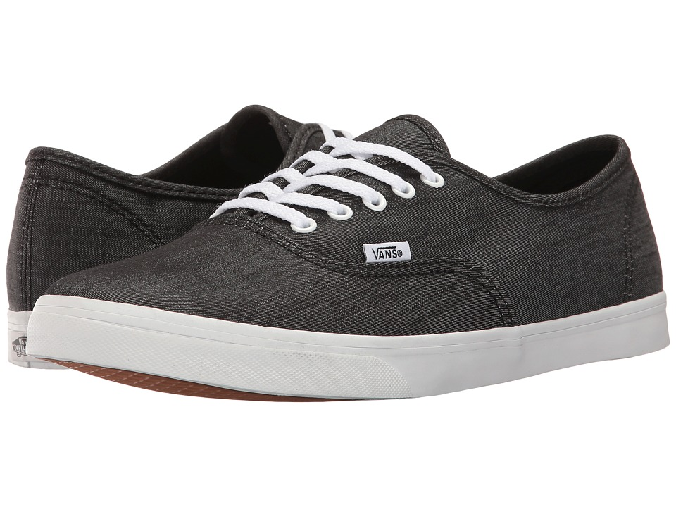 Vans Authentictm Lo Pro ((Shadow Stripe) Black/True White) Skate Shoes