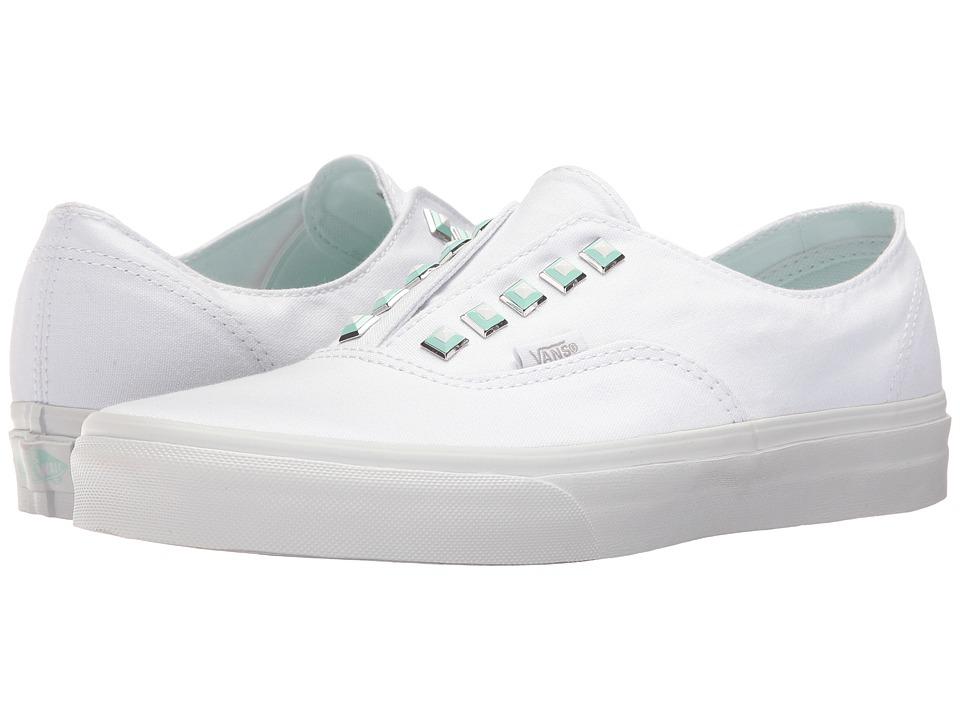 Vans Authentictm Gore ((Two-Tone Studs) True White/True White) Skate Shoes