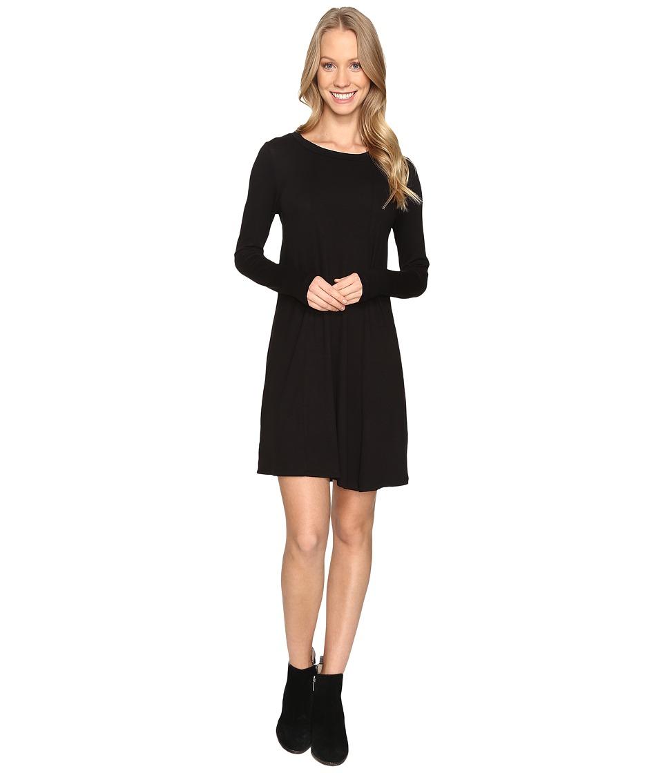 B Collection by Bobeau Indra Long Sleeve Dress (Black) Women