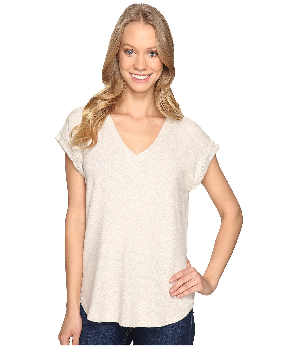 B Collection by Bobeau - Toni Cozy Tee Shirt (Oatmeal) Women's Clothing