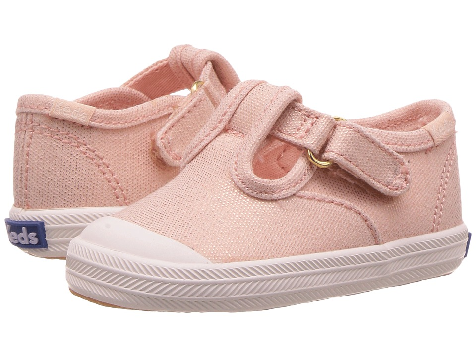 Keds Kids - Champion Toe Cap T-Strap (Infant) (Metallic Rose Gold) Girls Shoes