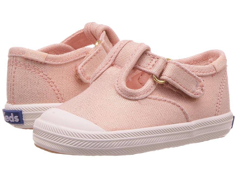 Keds Kids - Champion Toe Cap T-Strap (Infant) (Metallic Rose Gold) Girls Shoes