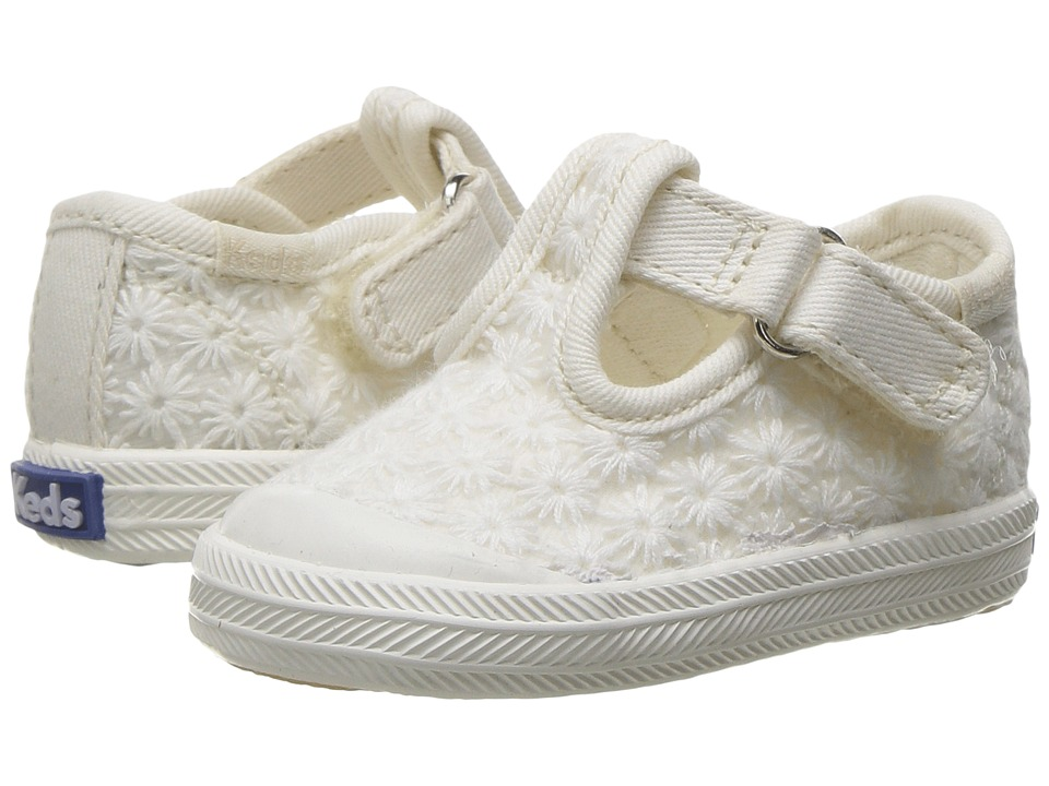 Keds Kids - Champion Toe Cap T-Strap (Infant) (Ivory Eyelet) Girls Shoes
