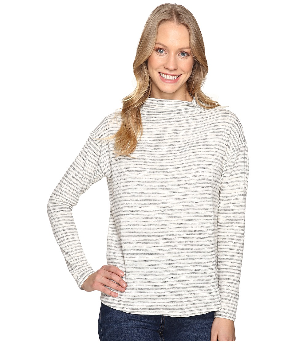 B Collection by Bobeau - Bexley Mock Neck Top (Ivory/Heather Grey) Women's Clothing