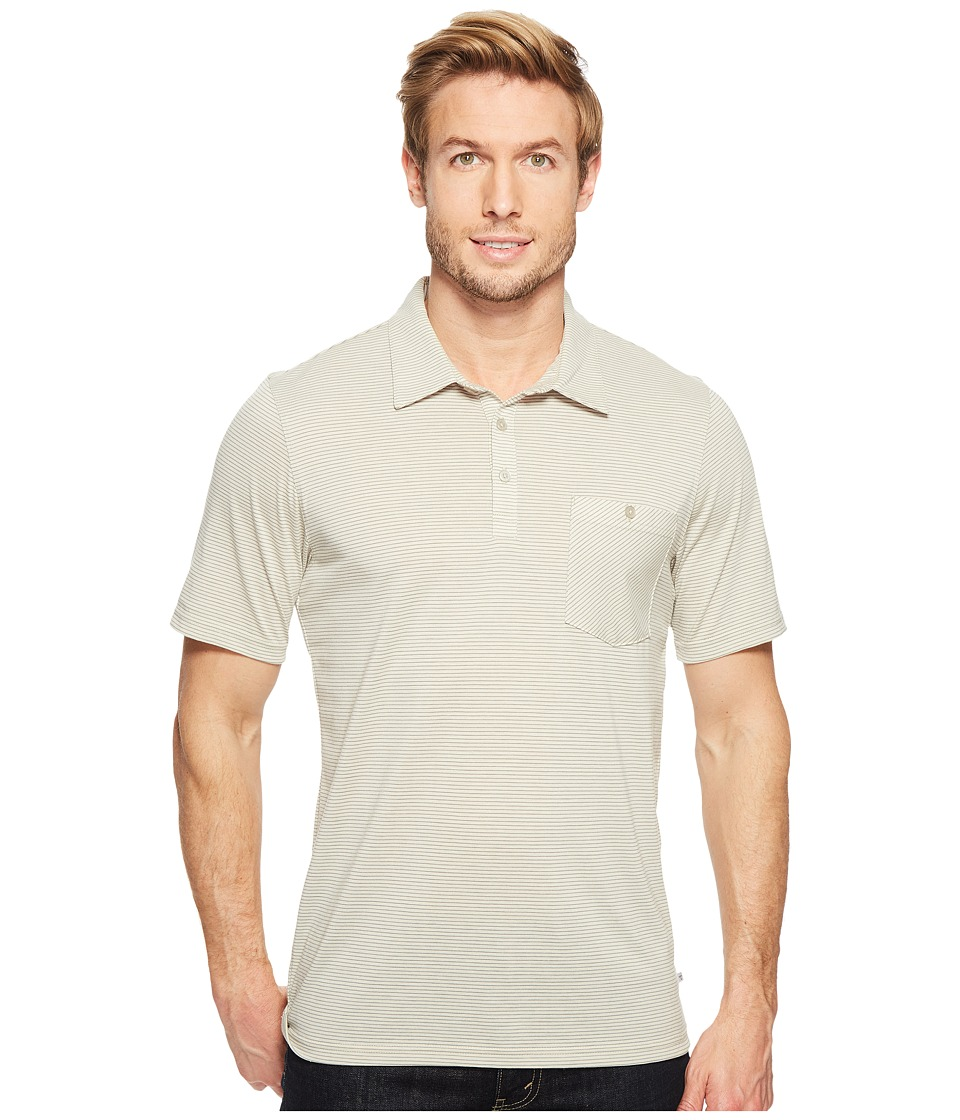 Toad&Co - Embarko Short Sleeve Polo Shirt (Pelican Stripe) Men's Short Sleeve Knit