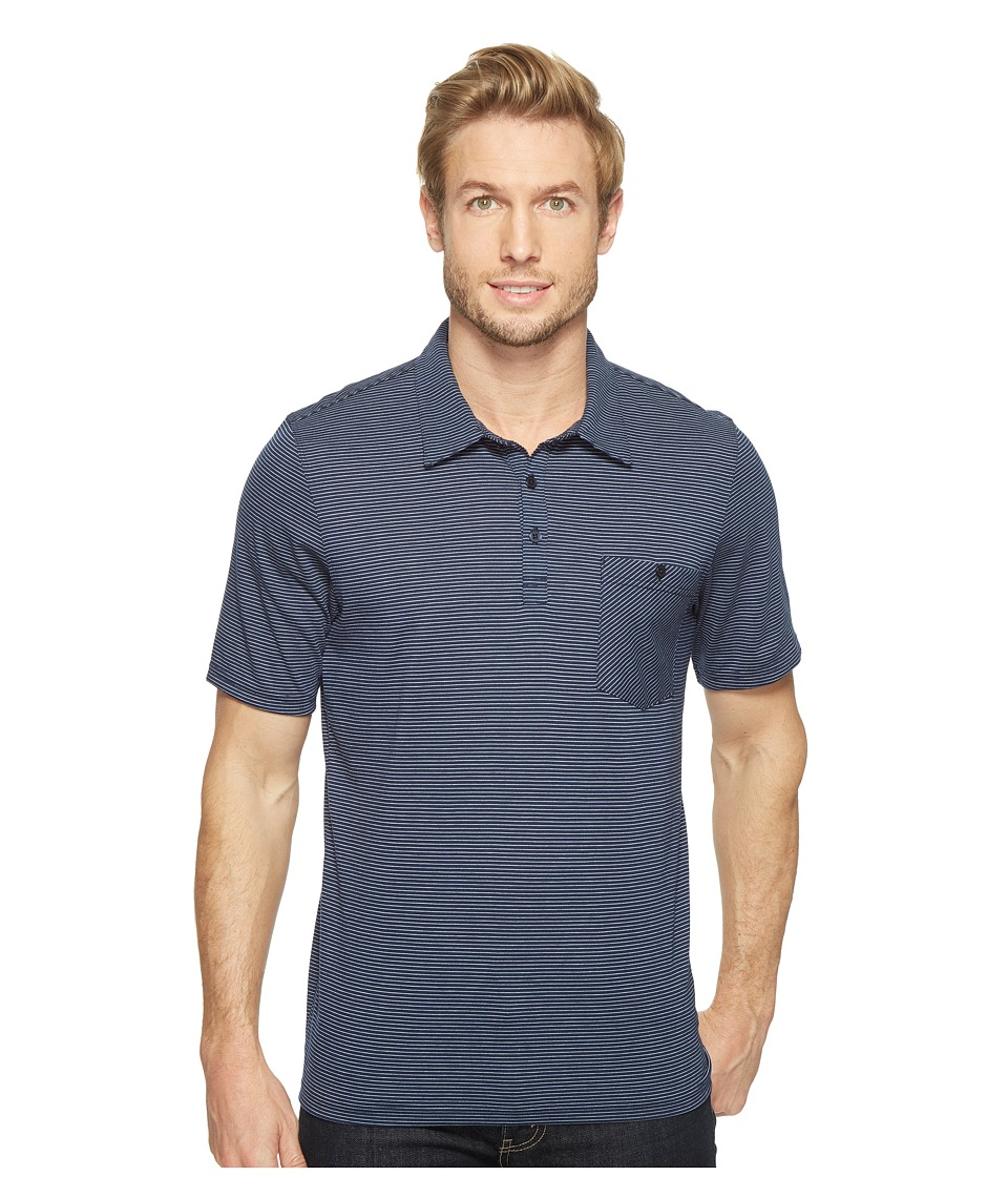 Toad&Co - Embarko Short Sleeve Polo Shirt (Deep Navy Stripe) Men's Short Sleeve Knit