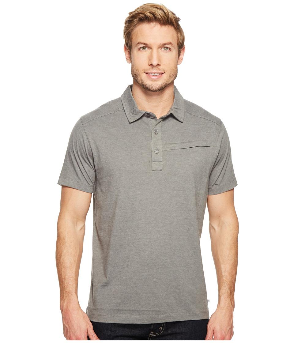 Toad&Co - Motile Short Sleeve Polo Shirt (Smoke) Men's Short Sleeve Knit