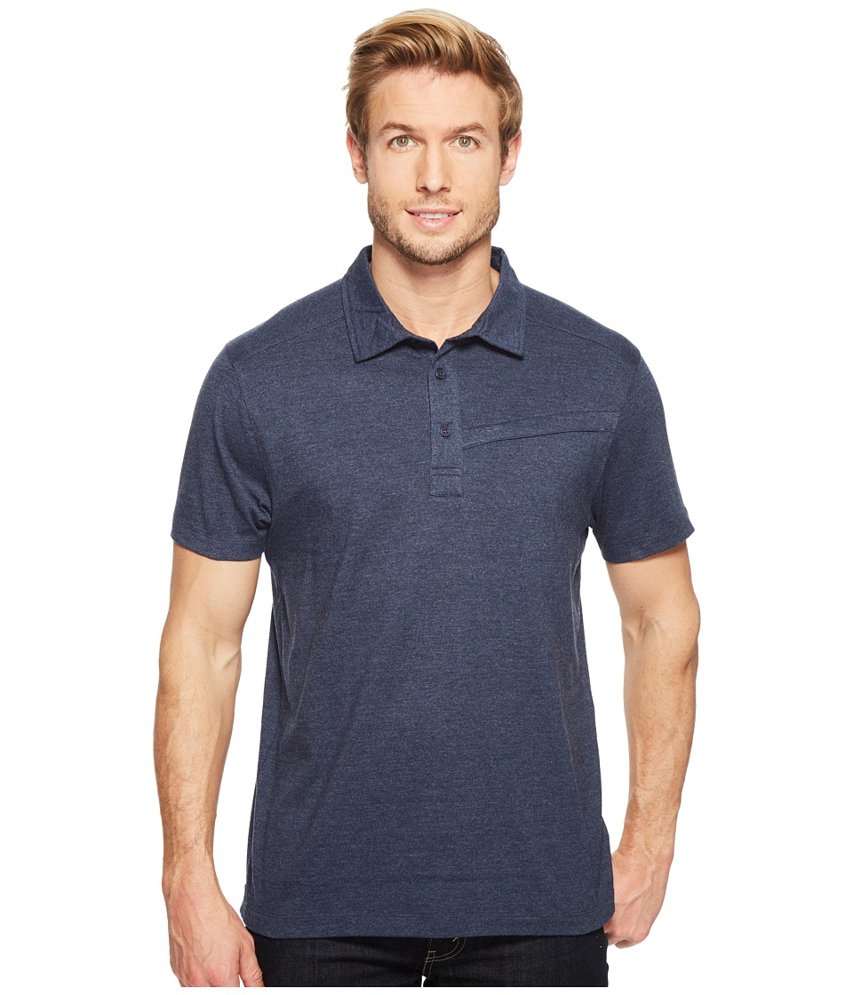 Toad&Co - Motile Short Sleeve Polo Shirt (Deep Navy) Men's Short Sleeve Knit