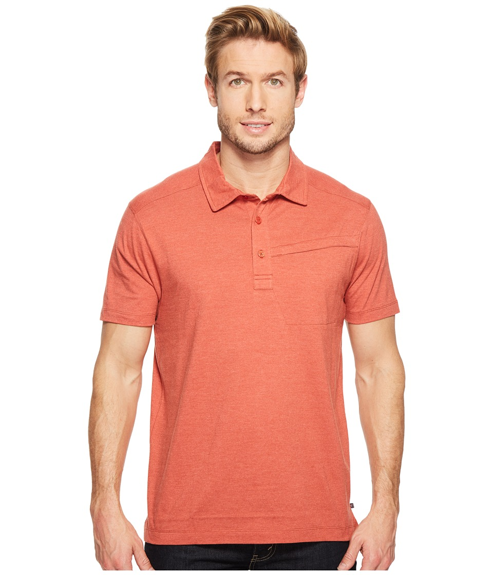 Toad&Co - Motile Short Sleeve Polo Shirt (Red Clay) Men's Short Sleeve Knit