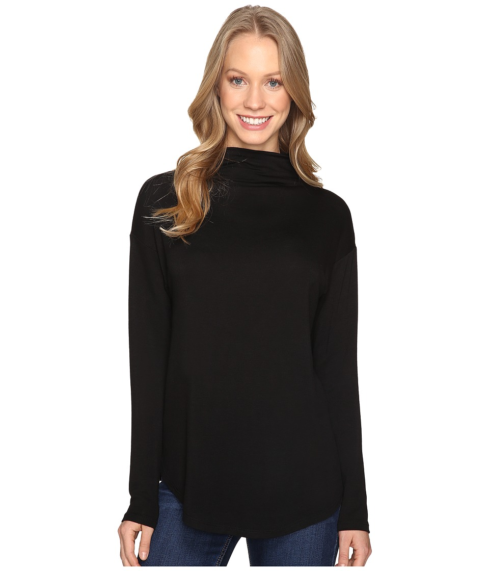 B Collection by Bobeau - Bexley Mock Neck Top (Black) Women's Clothing