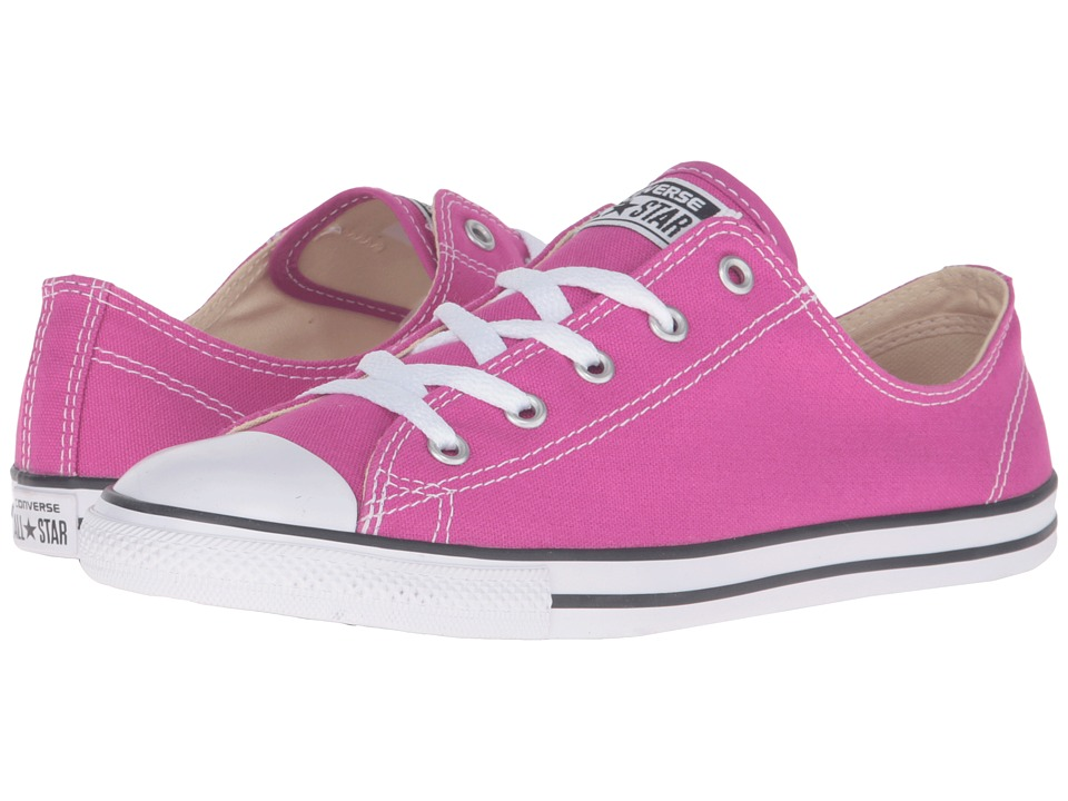 Converse - Chuck Taylor All-Star Dainty Ox Plastic (Pink/Black/White) Women's Classic Shoes