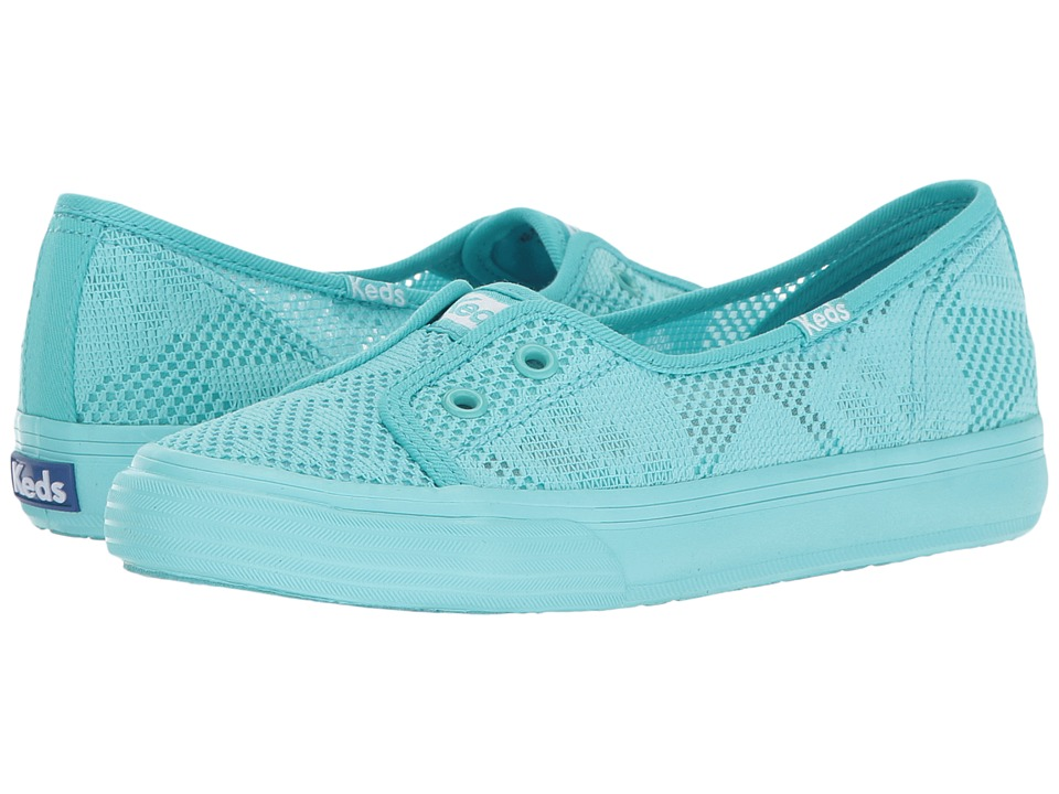 Keds Kids - Double Up Shortie (Little Kid/Big Kid) (Turquoise) Girl's Shoes