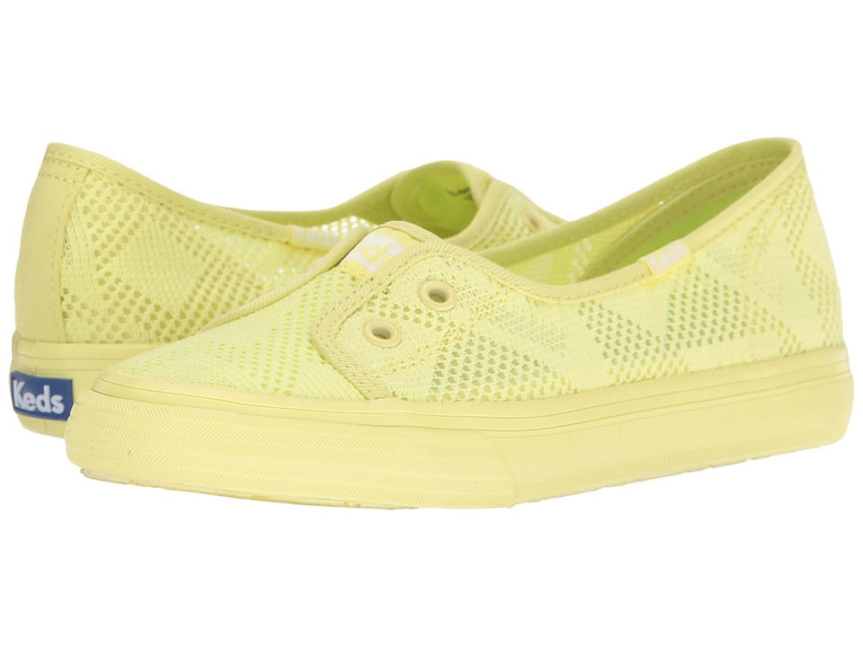 Keds Kids - Double Up Shortie (Little Kid/Big Kid) (Citron) Girl's Shoes