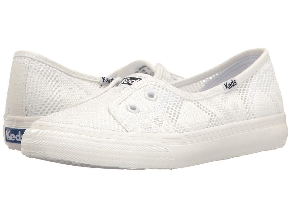 Keds Kids - Double Up Shortie (Little Kid/Big Kid) (White) Girl's Shoes