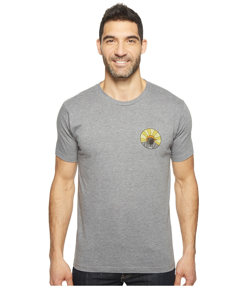 Toad&Co - Wake Up To This Graphic Tee (Gray Heather) Men's Clothing