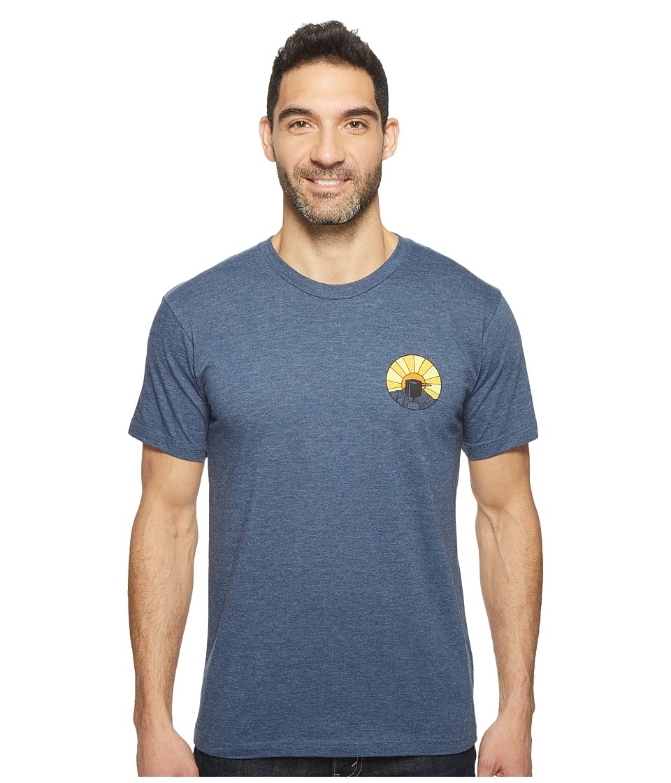 Toad&Co - Wake Up To This Graphic Tee (Navy Heather) Men's Clothing