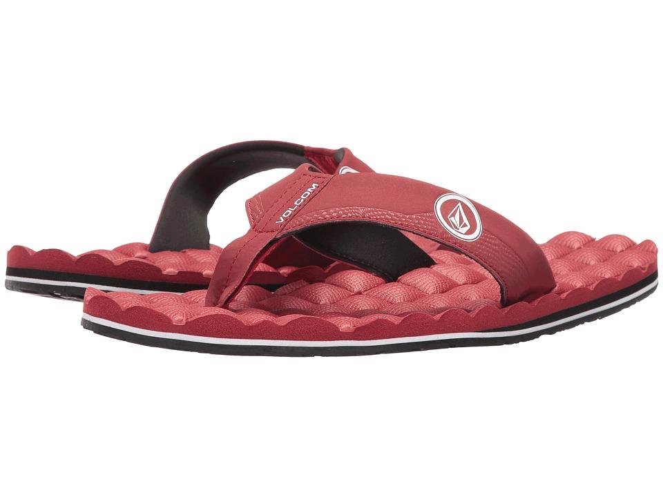 Volcom - Recliner (Crimson) Men's Sandals