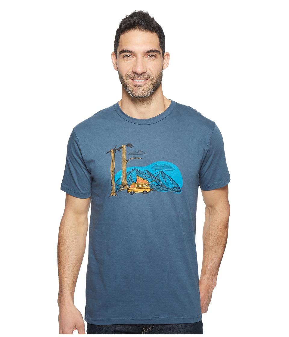 Toad&Co - Ramblin' Van Graphic Tee (Moody Blue) Men's T Shirt