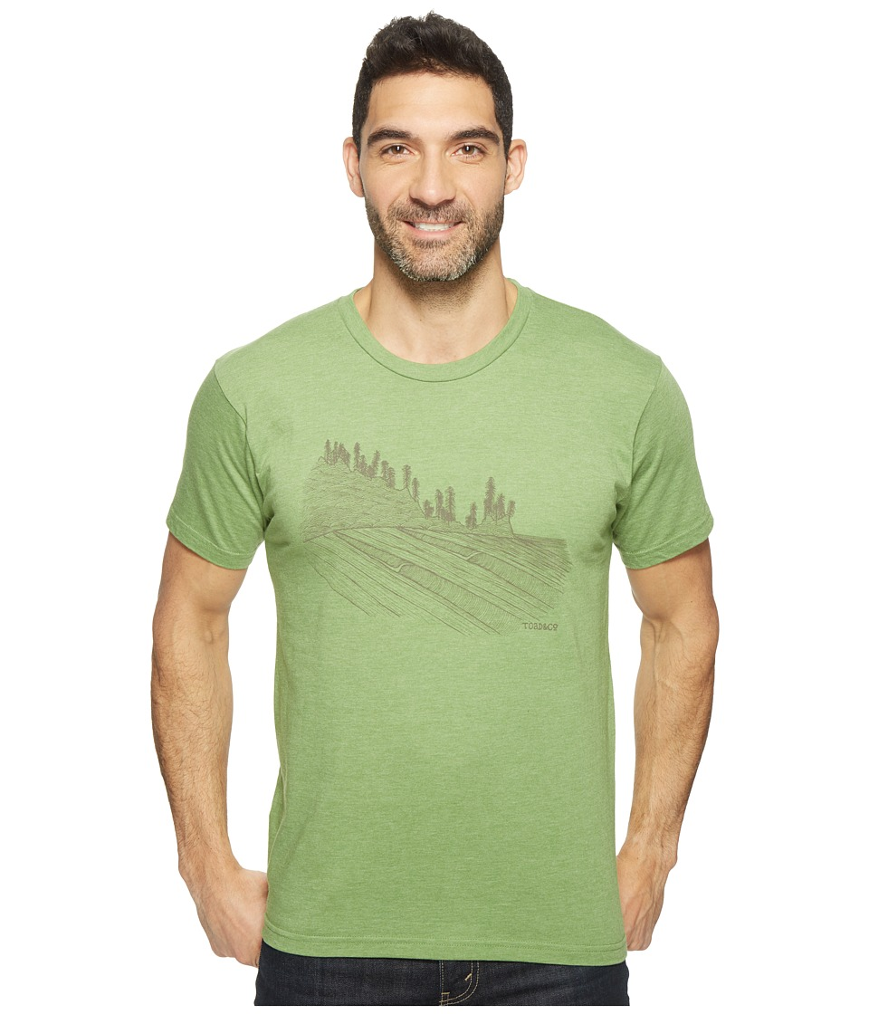 Toad&Co - Waves For Days Graphic Tee (Heather Iguana) Men's T Shirt