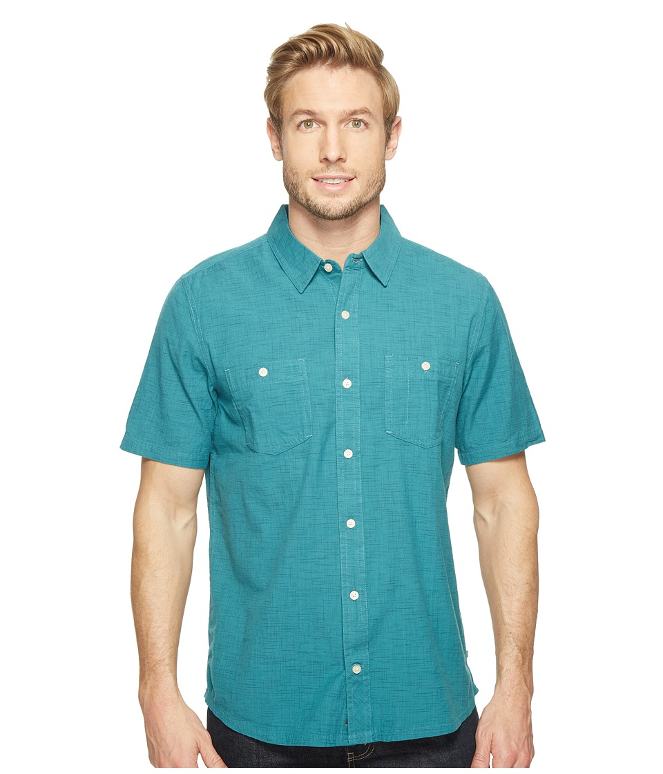 Toad&Co - Smythy S/S Shirt (Hydro) Men's Short Sleeve Button Up