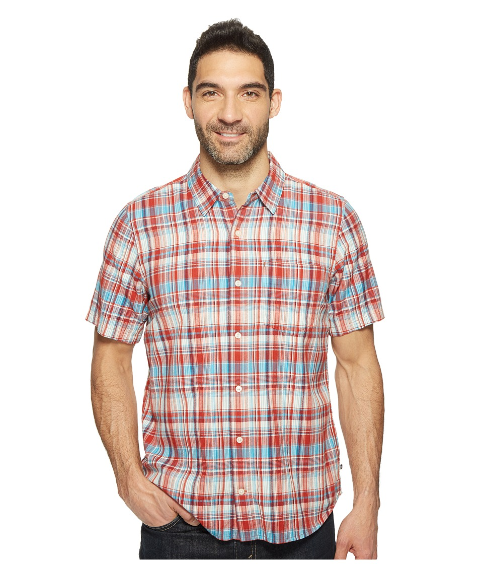 Toad&Co - Coolant S/S Shirt (Red Clay) Men's Short Sleeve Button Up