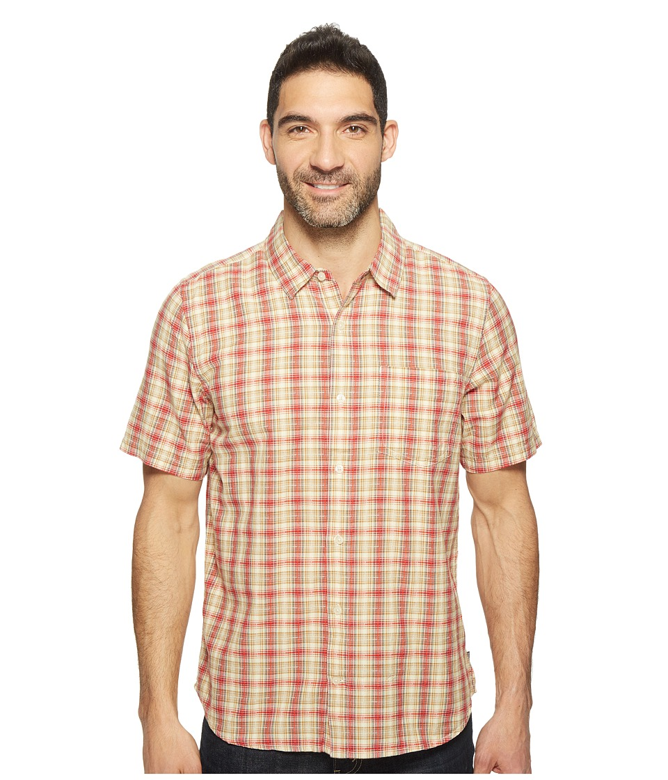 Toad&Co - Airscape Short Sleeve Shirt (Frigate Red) Men's Clothing