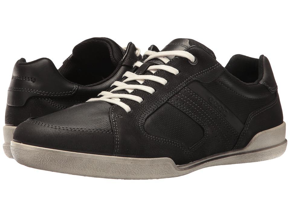 ECCO - Enrico Sneaker (Black/Black) Men's Lace up casual Shoes